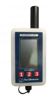 Hermes handheld satellite beacon locator